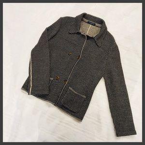 Piazza Sempione Sweater Jacket Black & Brown